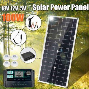 Solar Set Solarpanel Solarmodul 100W Solarzelle Wohnmobil Wohnwagen +30A Solar Laderegler