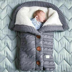 Melario Baby Winter Einschlagdecke Wickeldecke Schlafsack Decke für Kinderwagen Warme Grau