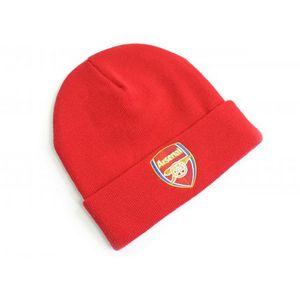 Arsenal FC Wappen Strick-Umschlagmütze BS1711 (Einheitsgröße) (Rot)