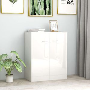 dereoir Sideboard Hochglanz-Weiß 60 x 30 x 75 cm Spanplatte