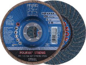 Fächerschleifscheibe PFC 125 Z 36 SGP-STRONG/22,23 D.125xB.18xH.22,23mm