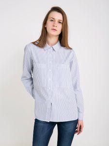 Big Star Damen Bluse Hemd Freizeit Business KALIEN 145705463 NAVY-463 M
