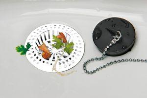 Abfluss-Sieb Abflussfilter 4er Set Bad Küche Weiß