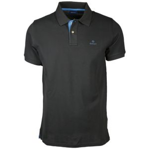 Gant Herren Poloshirt Contrast Collar Pique Rugger, Größe:XL, Farbe:Dunkelgrau(11)