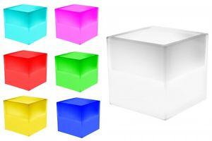 7even LED Uni-Box 40cm (IR Fernbedienung) / LED-Regal, LED-Box z.b. für Messe, LPs, Eiskübel, Blume