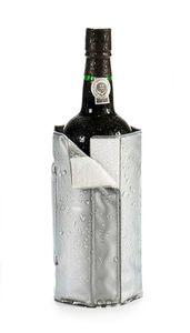 GEL FLASCHENKÜHLER Grau Kühlmanschette Champagnerkühler Weinkühler Sekt Wein 79