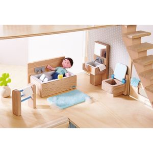 Haba 303011 Little Friends - Puppenhaus Möbel Badezimmer
