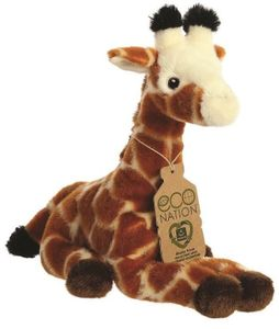 Aurora kuscheltier Eco Nation Giraffe 21,5 cm Plüsch braun