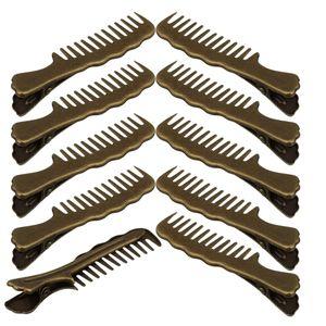 10 Stück Kamm Design Haarspangen Haarclip Alligator Haar Klemmen Farbe Bronze