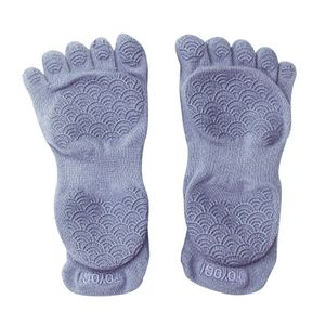 Yoga Socken Toeless Grippy Rutschfeste Grip Zubehör für Frauen Pilates Fitness Einheitsgröße Toeless Blue S.