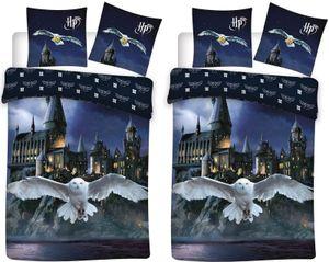 Harry Potter - Eule Hedwig - 2 x Wende-Bettwäsche-Set, 135x200 & 80x80