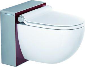 Grohe Dusch-WC SENSIA IGS Komplettanlage für Unterputzspülkasten, Wandmontage weiß/rot