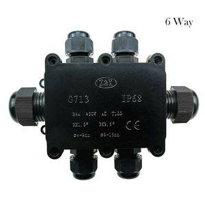 6 Wege Wasserdichte Abzweigdose Verteilerdose Anschlussdose Verbinder IP68
