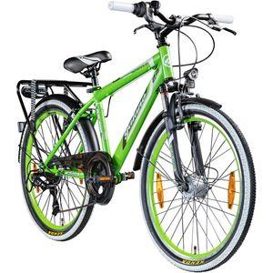 Galano Adrenalin 24 Zoll Mountainbike Hardtail Jugendfahrrad mountainbiken MTB Fahrrad Jugendliche ab 8 Jahre, Farbe:grün