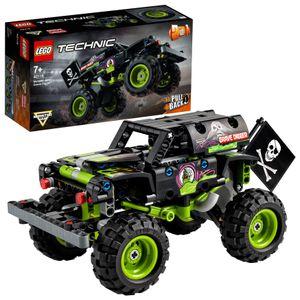LEGO 42118 Technic Monster Jam Grave Digger Truck - Gelände-Buggy 2-in-1 Set aus Bausteinen, Spielzeugauto mit Rückziehmotor für Kinder ab 7 Jahren