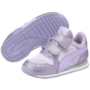 Puma Cabana Racer Glitz Inf Infant Kinder Baby Schuhe Sneaker, Größe:EUR 25 / UK 8 / 15.5 cm, Farbe:Lila (Light Lavender)