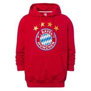 FC BAYERN MÜNCHEN Herren Hoodie Logo FC Bayern rot XXL