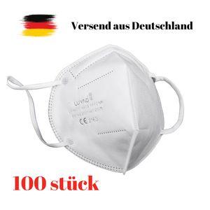 100  Stück Atemschutzmaske FFP2 - EU CE 2163  EN 149 Schutzmaske WEIß