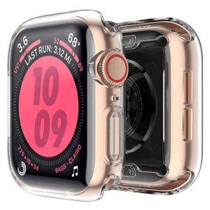 Apple Watch 44 mm Series 4 & 5 Silikon Schutz Hülle Full Cover Displayschutz