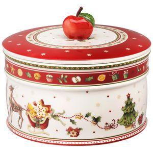 VILLEROY & BOCH Winter Bakery Delight Gebäckdose groß Porzellan Weihnachtsdekor