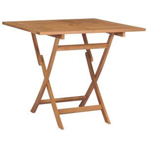 dereoir Klappbarer Gartentisch 85x85x76 cm Teak Massivholz