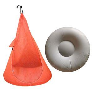 Zimemrschaukel für Kinder Hängehöhle Kinderzimmer Hängesessel Kuschelhöhle Schaukelsitz als Weihnachtsgeschenk Geburtstaggeschnek Farbe Orange