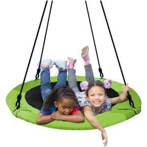 Nestschaukel Tellerschaukel für Kinder und Erwachsene Mehrkindschaukel 10068, Größe:120 cm