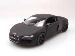 Audi R8 2009 matt schwarz Modellauto 1:24 Welly