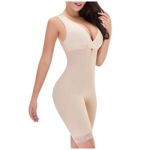 Frauen Ganzkörper Shaper Bodysuit Firm Control Shapewear Lifter Korsett Shapewear Größe:L,Farbe:Ocker