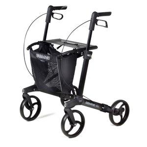 Sunrise Medical Gemino Rollator 30 black, Leichtgewicht-Rollator, Körpergröße 150-200cm
