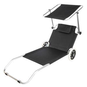 Strandstoel Met Wielen Aluminium  - 150 x 52 x 62 cm