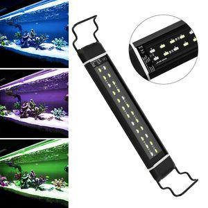 30-45cm LED Aquarium Beleuchtung mit Timer Vollspektrum Abdeckung Aufsetzleuchte RGB Lampe Plant
