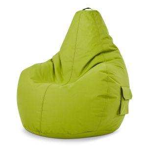 Green Bean © Cozy Beanbag - Gaming Sitzsack 80x70x90 cm mit 230 Liter EPS Perlen Füllung - wasserbaweisend, waschbar, robust - Grün