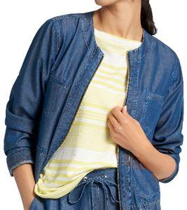 BASLER Cruise Liner Blouson leichte Damen Frühlings-Jacke im Denim-Look Jeansblau, Größe:46