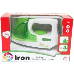 Kaiming Toys Kinder Bügeleisen Weiß Grün mit Funktion Licht und Sprayer Neu