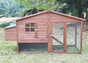"""Hühnerstall Hühnerhaus Chickenhouse Nr. 08 """"Schickchick"""" mit Legebox & Freilauf"""