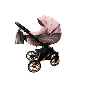 Kinderwagen Set Buggy Premium Wickeltasche OXV-3D by Lux4Kids Rose Line 07 3in1 mit Babyschale