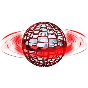 Flynova Pro Flying Ball Bumerang Spinner Dynamische RGB-Lichter Double Pass (Roter Ball)