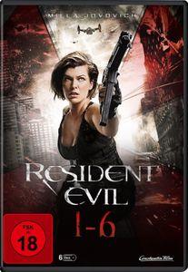 Resident Evil 1-6  [6 DVDs] - DVD Boxen