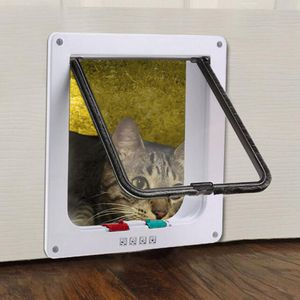 Wolketon Katzentuer Katzenklappe Eingangskontrolle System Hundeklappe Cat Door 4-Wege ABS