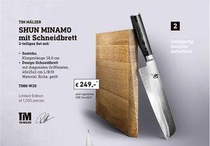 KAI SHUN MINAMO Tim Mälzer 2-teiliges Set mit Santoku und Schneidbrett