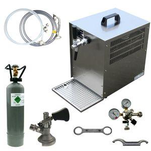 Bierkühler Bierzapfanlage 60 L/h - 1-leitig - KOMPLETTSET - KEG Flach - CO2 2Kg