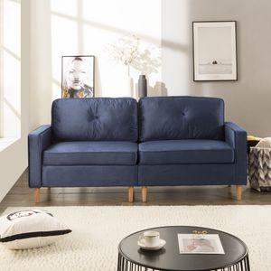 3-Sitzer Sofa Couch für Wohnzimme Gemütlich Morderne Couch mit Dezenten Designelementen Federkern und Loser Rücken 194x76x90cm