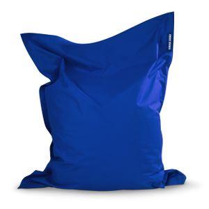 Green Bean © SQUARE XL Riesensitzsack 120x160 cm - Indoor & Outdoor Sitzsack - Gaming Bean Bag Lounge Chair - Kinder & Erwachsene - Blau