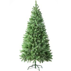 tectake Künstlicher Weihnachtsbaum - 180 cm, 742 Spitzen und Spritzguss-Nadeln grün