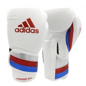 adidas adiSPEED Strap-Up Boxhandschuhe rot/weiß 14 oz