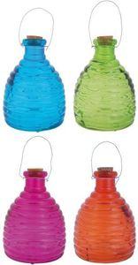 Danto Set: 3 Stück Esschert Design Wespenfalle Bienenkorb, Glasfalle, Insektenfalle, hängend, groß, 21 cm, sortiert
