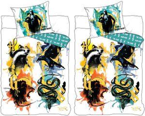Harry Potter - 2 x Wende-Bettwäsche-Set, 135x200 & 80x80 cm