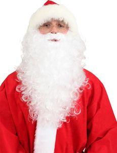 Bart zum Kostüm Nikolaus Weihnachtsmann Vollbart weiß
