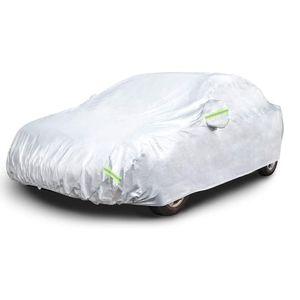 Autoabdeckung Ganzgarage Autoschutzhülle Auto Abdeckung - Car Cover - Silber Hülle wasserdicht - für alle Arten von PKW / KFZ Autoabdeckung Abdeckplane 530*200*150cm